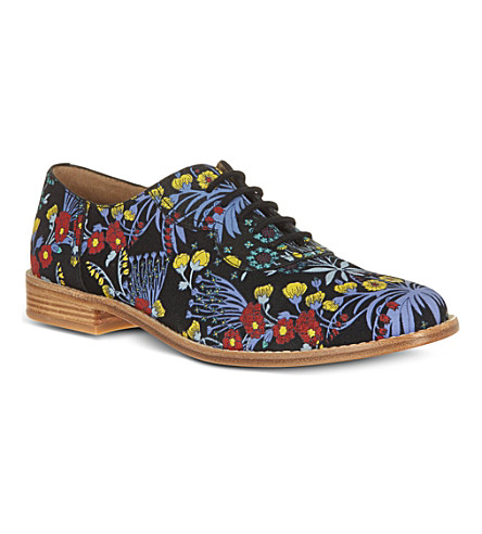 MARC BY MARC JACOBS Floral print Oxford brogues (Blk/other