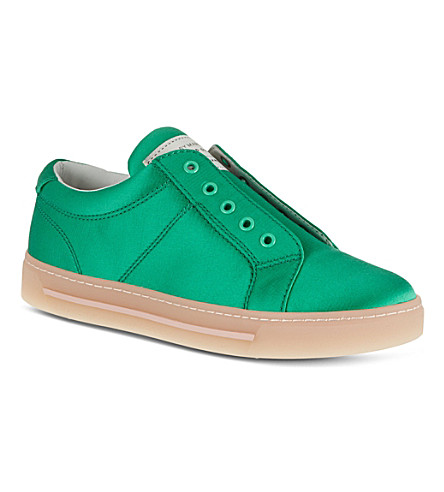 MARC BY MARC JACOBS Satin flyer trainers (Green
