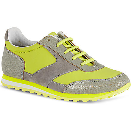 MARC BY MARC JACOBS Cracked leather running trainers (Yellow
