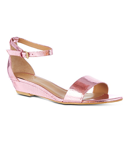 MARC BY MARC JACOBS Demi metallic wedge sandals (Pink
