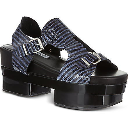 ACNE Aimi snake-look sandals (Black