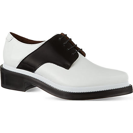 ACNE Lark mix Oxford shoes (Blk/white