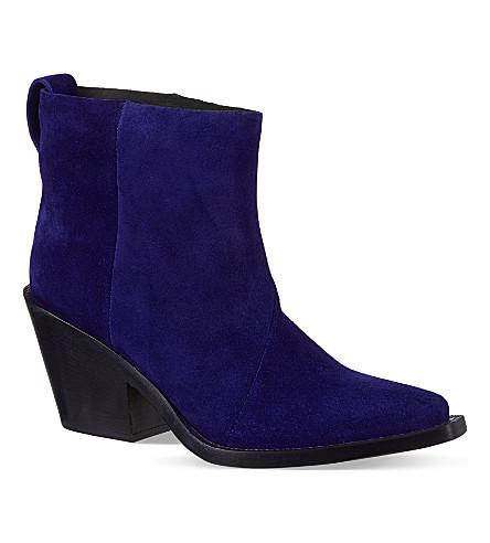 ACNE STUDIOS Donna cobalt suede boots (Blue