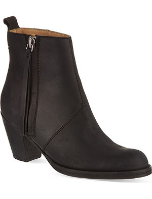 ACNE Pistol suede ankle boots