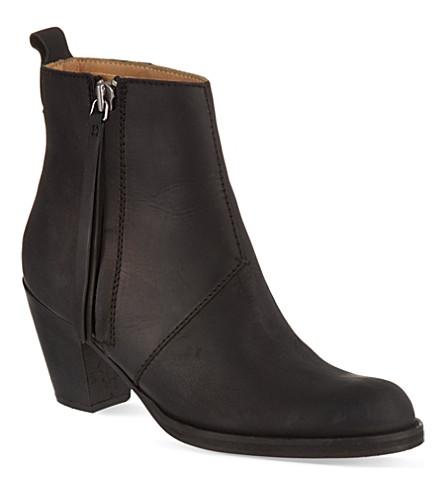 ACNE STUDIOS Pistol suede ankle boots (Black
