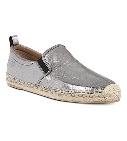 MARC BY MARC JACOBS Espadrille metallic slip-on shoes (Gunmetal