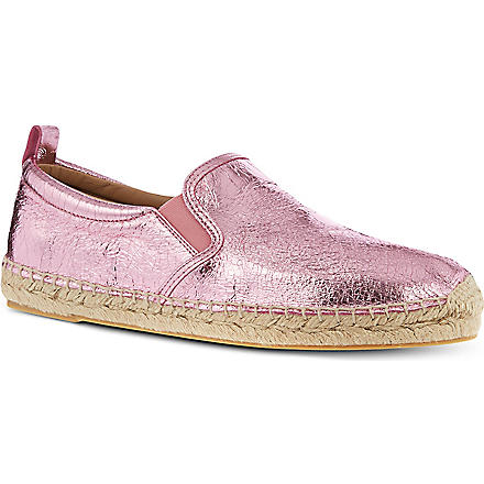 MARC BY MARC JACOBS Metallic espadrilles (Pink