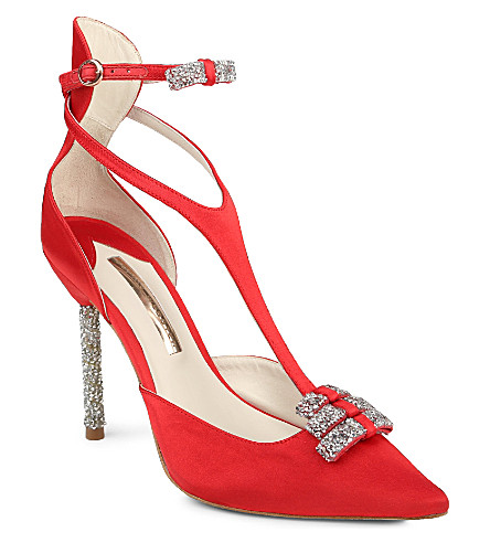 SOPHIA WEBSTER Eva satin courts (Red/other