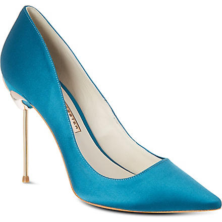 SOPHIA WEBSTER Coco satin court shoes (Turquoise