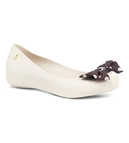 MELISSA Minnie Mouse ultra-girl bow pumps (Cream