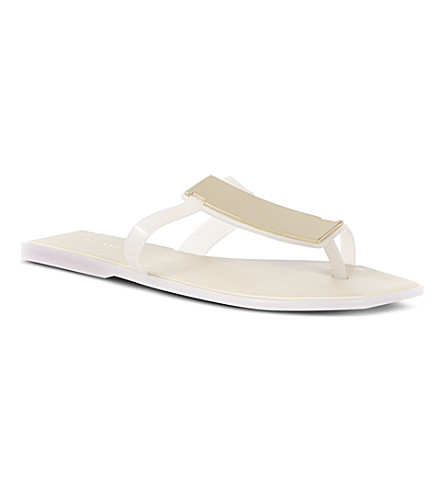 MELISSA Pollen crome rubber sandals (Grey/light