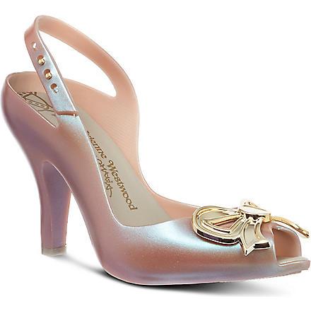 MELISSA + VIVIENNE WESTWOOD Lady Dragon bow court shoes (Purple