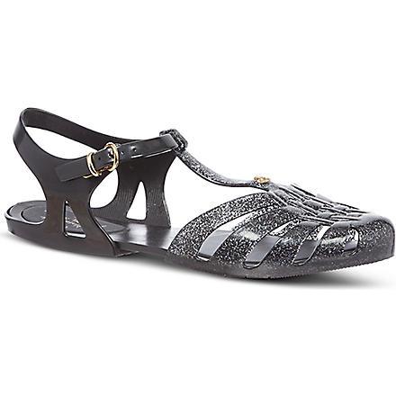 MELISSA + VIVIENNE WESTWOOD Aranha rubber sandals (Black