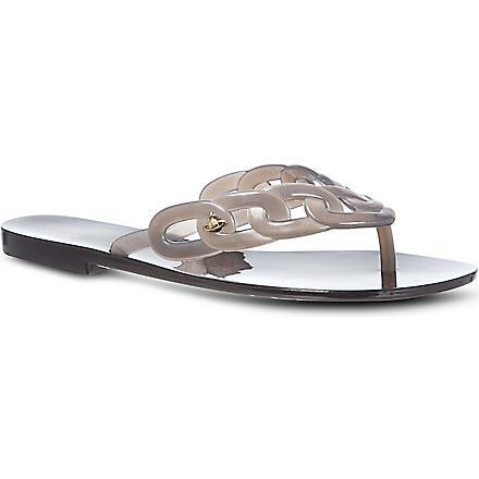 MELISSA + VIVIENNE WESTWOOD Harmonic links rubber flip flops (Grey