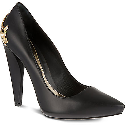 MCQ ALEXANDER MCQUEEN Lex leather court shoes (Blk/other