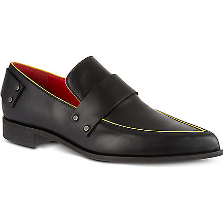 MCQ ALEXANDER MCQUEEN Grace leather slippers (Black