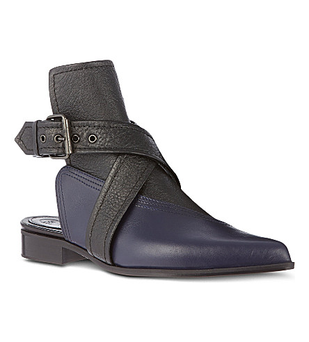 MCQ ALEXANDER MCQUEEN Grace leather ankle boot (Blk/blue