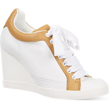 SEE BY CHLOE Chichester wedge trainers (White
