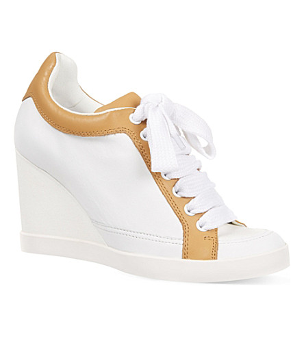 NOVESTA Chichester wedge trainers (White