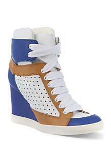 SEE BY CHLOE Peter perforated leather trainers