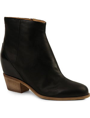 MM6 Hidden wedge leather ankle boots