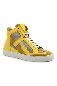 MM6 Leather high-top trainers