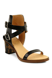 MM6 Leather block-heel sandals