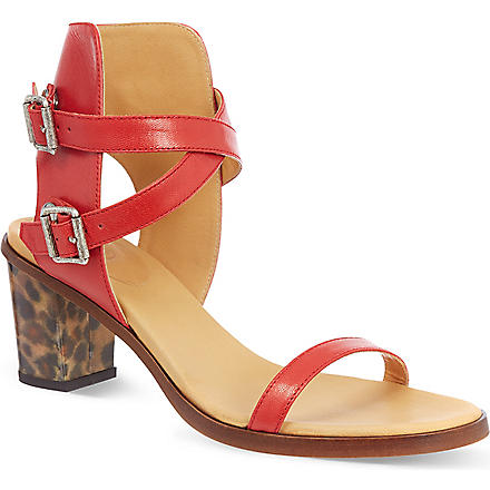 MM6 Leopard heel sandals (Red