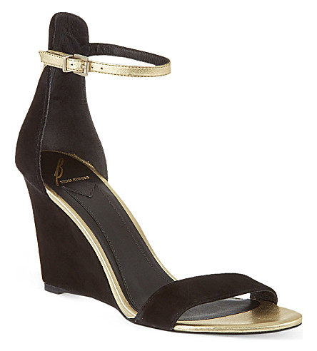 B BY BRIAN ATWOOD Roberta wedge sandals (Black/comb