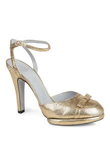 RAYNE Mimi metallic leather sandals