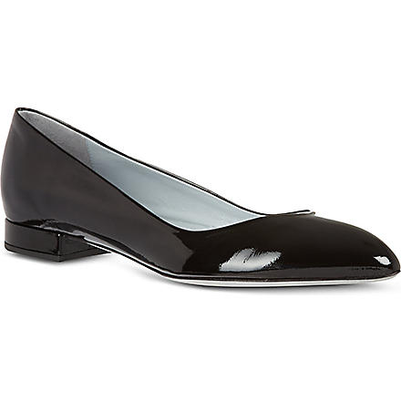 RAYNE Rose patent court shoes (Black