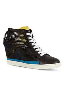 HOGAN REBEL Mesh wedge trainers