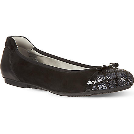 HOGAN Aries ballet pumps (Black