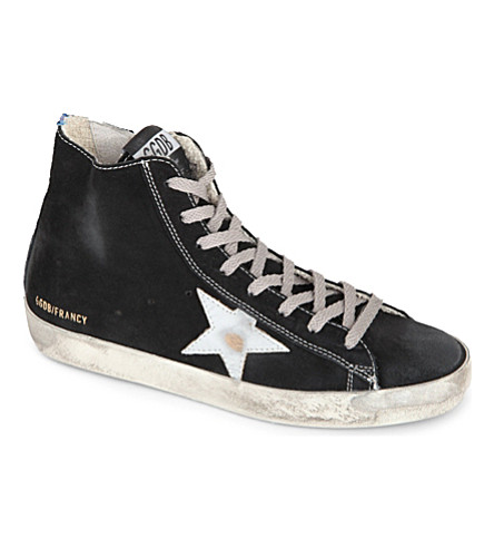 GOLDEN GOOSE Francy suede high tops (Black