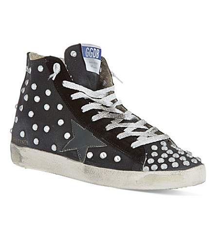 GOLDEN GOOSE Francy laced high tops (Black