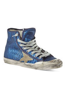 GOLDEN GOOSE Francy sequin high tops