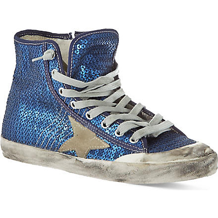 GOLDEN GOOSE Francy sequin high tops (Denim