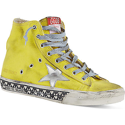 GOLDEN GOOSE Francy laced high tops (Yellow