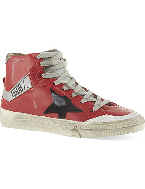 GOLDEN GOOSE 2.12 leather high-top trainers