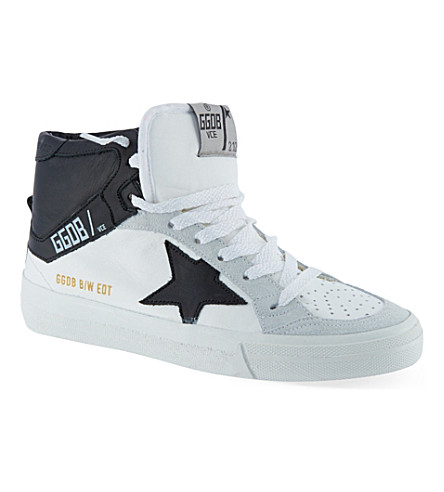 GOLDEN GOOSE Mid Star laced trainers (White