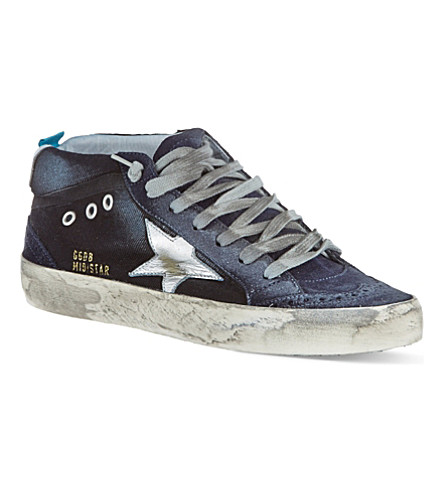 GOLDEN GOOSE Mid Star laced trainers (Denim