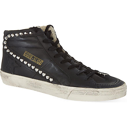 GOLDEN GOOSE Slide ankle band trainers (Black