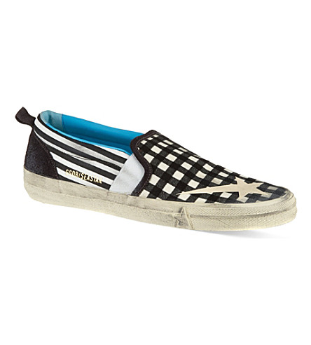GOLDEN GOOSE Seestar slip-on trainers (Blk/white
