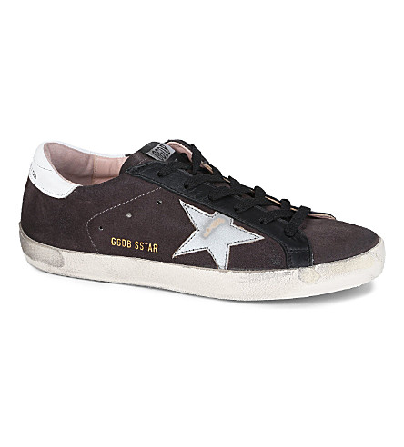 GOLDEN GOOSE Superstar nubuck trainers (Grey/other