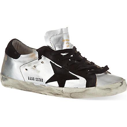 GOLDEN GOOSE Superstar low-top sneakers (Silver