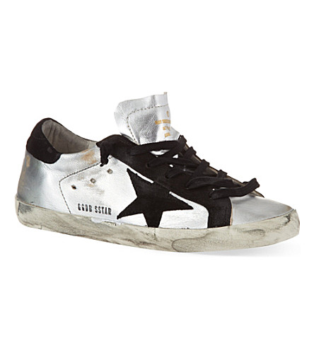 GOLDEN GOOSE Superstar low-top sneakers (Silver