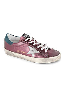 GOLDEN GOOSE Superstar metallic-leather trainers