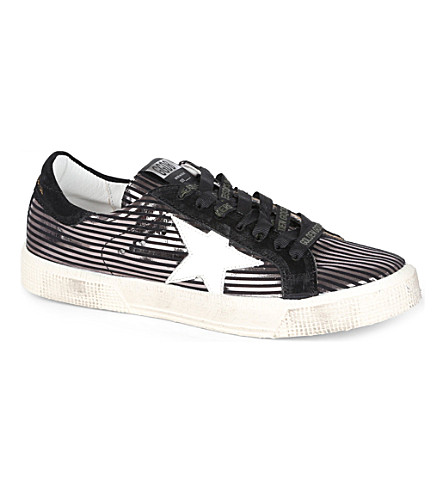 GOLDEN GOOSE May metallic trainers (Gunmetal