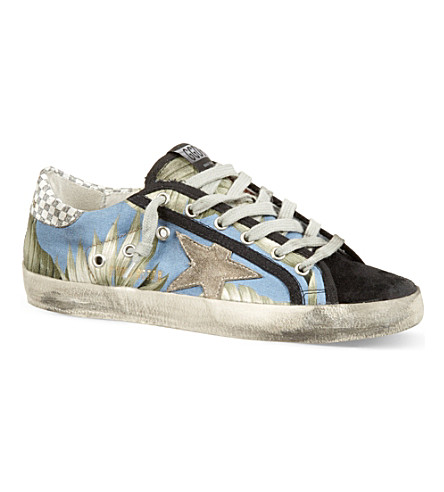 GOLDEN GOOSE May laced trainers (Blue