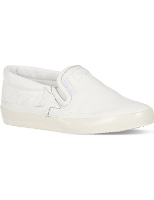 GOLDEN GOOSE Hanami leather skate shoes